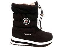Дутики/сапоги Fashion женские зимние на меху черные KF0109