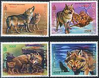 Монголия 1999 - волки - MNH XF