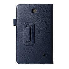 Чехол Подставка Lychee Texture Samsung Galaxy Tab 4 8.0 T330 синий