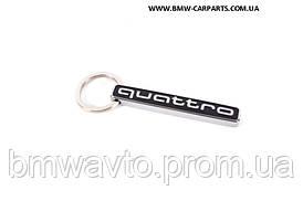 Металевий брелок з карабіном Audi Key ring quattro