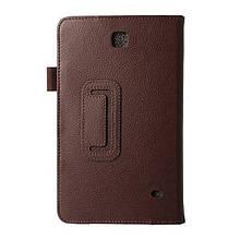 Чехол Подставка Lychee Texture Samsung Galaxy Tab 4 8.0 T330 коричневый