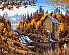 VP143 Набор-раскраска по номерам Дом в лесу худ. Даелин Марк