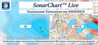 SonarChart™ Live - уникальная технология от Navionics для создания батиметрических карт