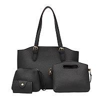 Жіночі сумки набір 4в1 чорний, фото 1