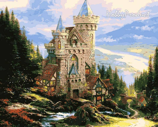 VP150 Набор-раскраска по номерам Старинный замок худ. Кинкейд Томас, фото 2