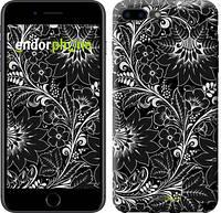"""Чехол на iPhone 7 Plus Чёрно-белая хохлома """"1092c-337-2911"""""""