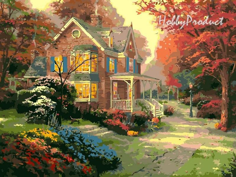 VP154 Набор-раскраска по номерам Осенние краски худ. Кинкейд Томас