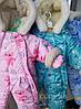 Зимние комбинезоны для новорожденных Карапузики