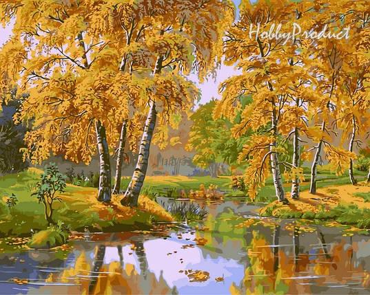 VP163 Набор-раскраска по номерам Осенний день худ. Цыганов Виктор , фото 2