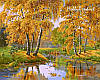 VP163 Набор-раскраска по номерам Осенний день худ. Цыганов Виктор