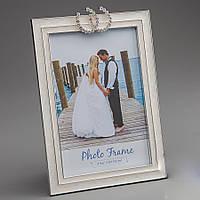 Свадебная фоторамка с подковками, 10х15 см
