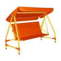 Качели дачные четырехместные Leco-IT Outdoor Оранж гп051355