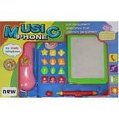 Музыкальный Телефон с досточкой для рисования