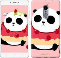 """Чехол на Xiaomi Redmi Note 4 Панда с пончиком """"3991c-352-2911"""""""