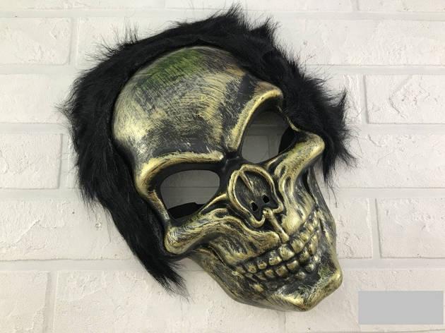 Маска карнавальная череп с волосами, фото 2