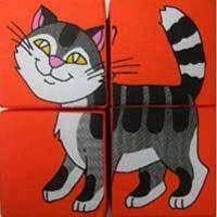 Кубики мягкие  серия - Собери картинку (4 вида), Розумна Іграшка