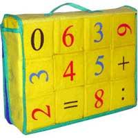 "Кубики мягкие ""Математика"" 12 элементов, Розумна Іграшка"