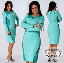 Платье женское батальное Tessa, ПУДРА, МЯТА, фото 3