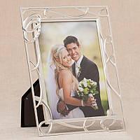 Свадебная фоторамка с кольцами, 24,5х19,5 см