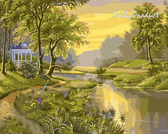 VP171 Набор-раскраска по номерам Беседка у реки худ. Цыганов Виктор , фото 2