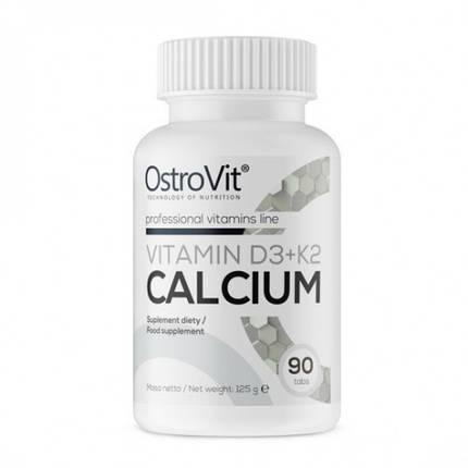 Calcium Vitamin D3 + K2 OstroVit 90 tabs, фото 2