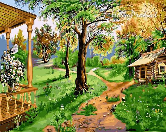 VP174 Набор-раскраска по номерам Домик на природе худ. Цыганов Виктор , фото 2