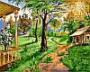 VP174 Набор-раскраска по номерам Домик на природе худ. Цыганов Виктор