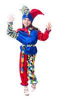 Арлекин - Скоморох Шут  карнавальный костюм детский