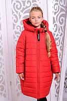 Пальто для девочки «Ангел», красное