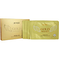 Гидрогелевая маска для шеи с плацентой PETITFEE Hydrogel Angel Wings Gold Neck Pack