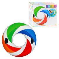 Детский надувной круг с ручками Intex, 58202