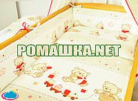 Детская постель и мягкие бортики в кроватку Игрушки 120х60 см наволочка простынь пододеяльник и защита 3936