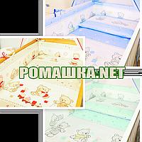 Комплект детского постельного белья (детская постель в кроватку) Игрушки наволочка простынь пододеяльник 3936