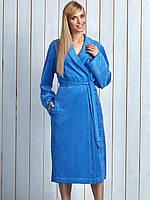 Довгий бавовнятий жіночий халат із поясом LL INA dl. XXL