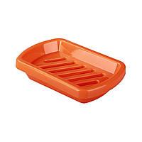 Пластиковая   мыльница для  ванной «Абандаж матовая» оранжевый