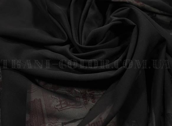 Ткань шифон черный, фото 2