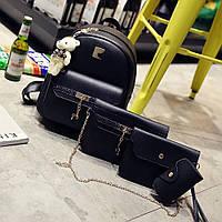 Рюкзак женский+клатч+косметичка+визитница №3313