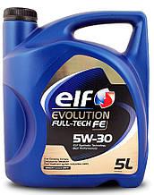 """Автомобильное моторное масло синтетическое """"ELF"""" Evolution FullTech FE 5W30 5L"""
