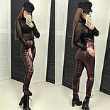 """Женские красивые лосины из плотного винила с """"металическим напылением"""" (4 цвета), фото 4"""