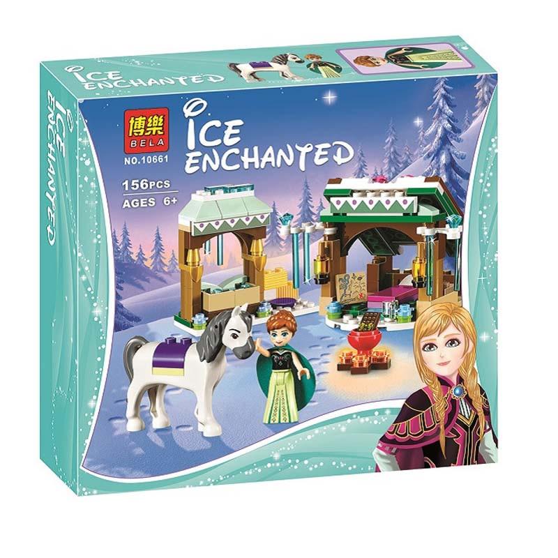 """Конструктор Bela 10661 (реплика Lego Disney Princess 41147) """"Зимние приключения Анны"""", 156 дет"""
