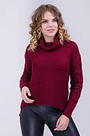 Стильный женский свитер интересной вязки