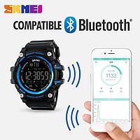Оригинальные Smart часы Skmei 1227 Blue | Cмарт Bluetooth | Спортивные мужские часы