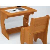 Детский стол и стул регулируемые с надстройкой