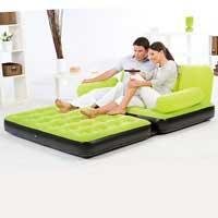 Надувная диван - трансформер BestWay 67356 с электронасосом (188-152-64 см, 3 цвета)