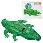 """Надувная игрушка-рейдер (плотик) Intex 58546 """"Крокодил"""" (168*86 см)"""