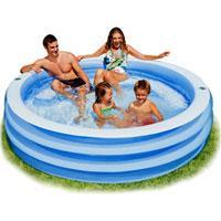 """Семейный надувной бассейн Intex, 57481 """"Волна"""" (203*56 см)"""