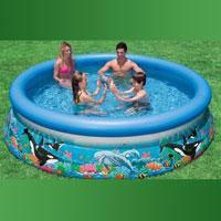 """Семейный надувной бассейн Intex, 28124 (54900) """"Океан"""" (305*76 см)"""