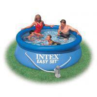 """Семейный надувной бассейн Intex, 28112 (54912) """"Easy Set"""" с насосом  (244*76 см)"""