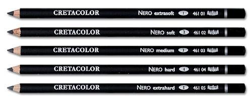 Набор карандашей для рисунка Неро твердый 4 3 шт..Cretacolor