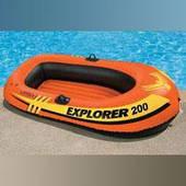 """Надувная лодка Intex 58330 """"Explorer 200"""" до 95 кг (185*94*41 см)"""